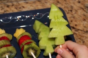 cooking with kids - honey dew melon fruit pops