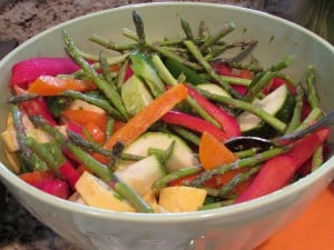 Grilled Veggies in Bowl