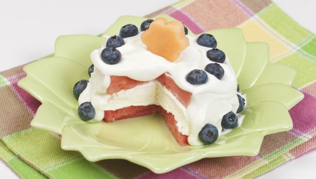 no-bake dessert with fruit fun