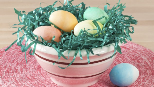 ombre deco hardboiled egg