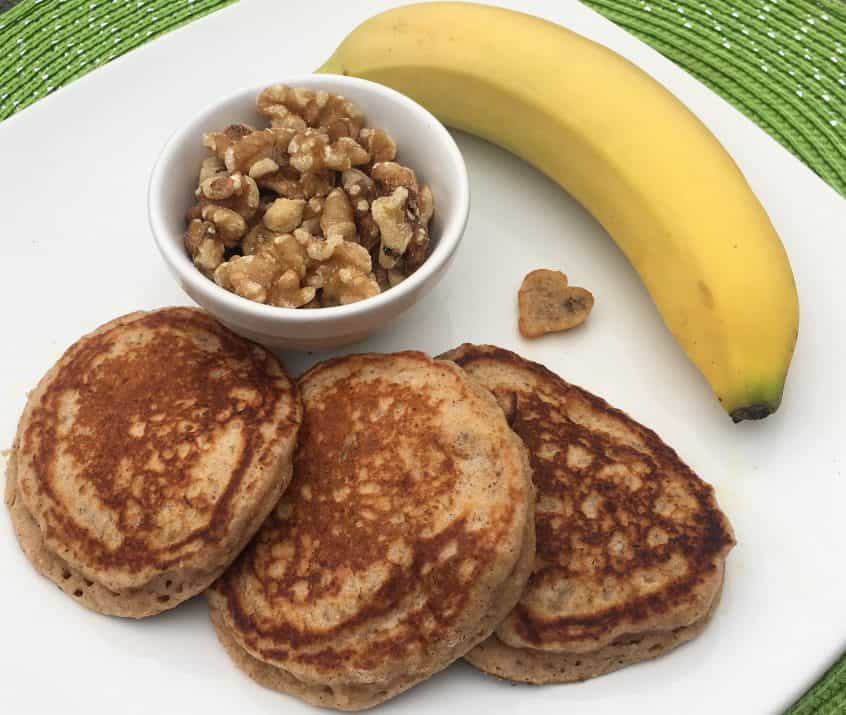 banana maple nut pancakes