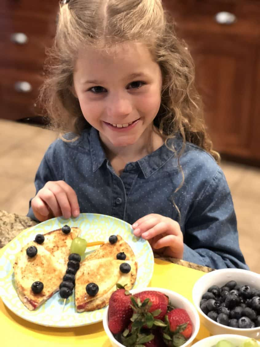 Making Butterfly Quesadillas with Kids for Fruity Yum Fun