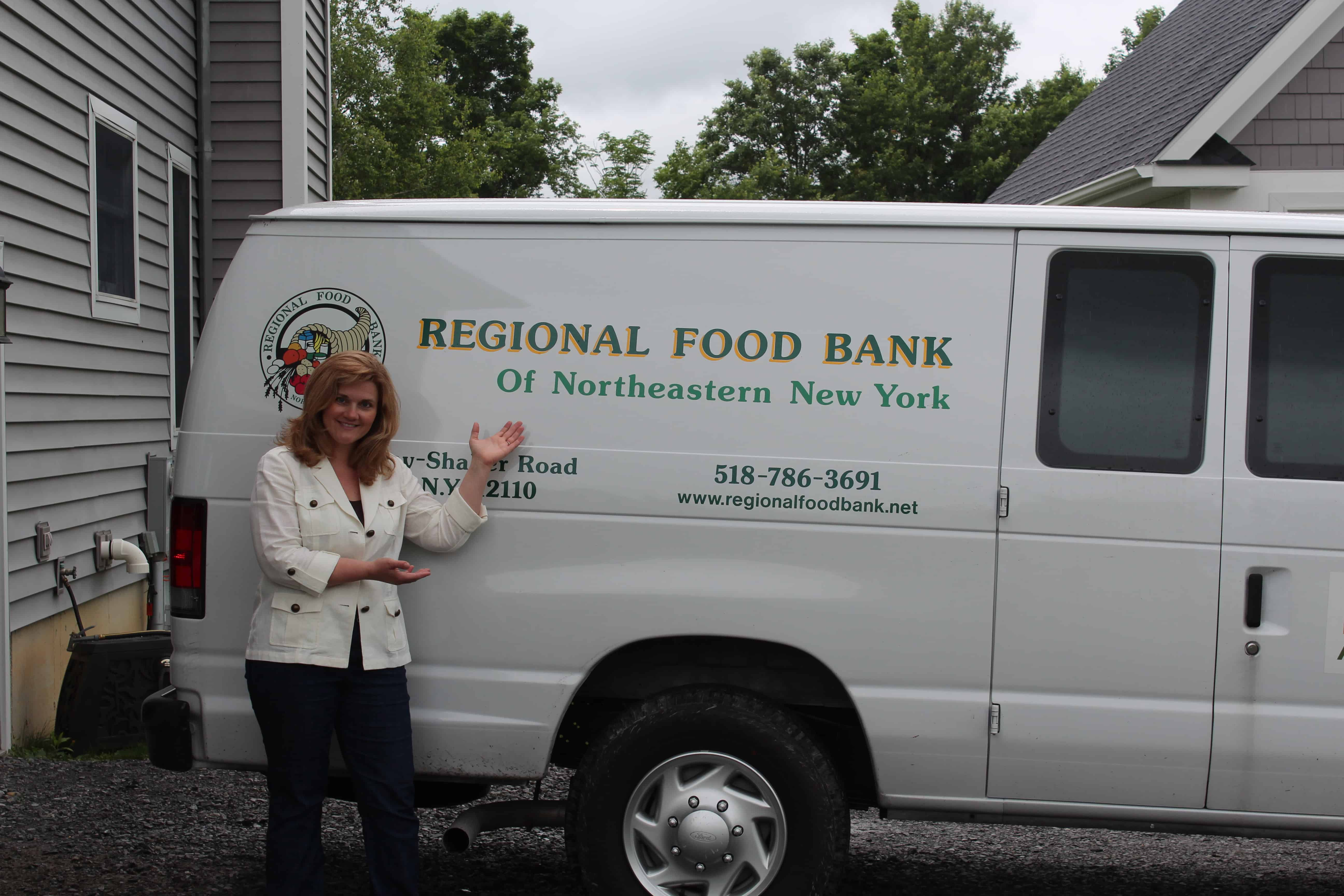 Jodie and Food Donation Truck