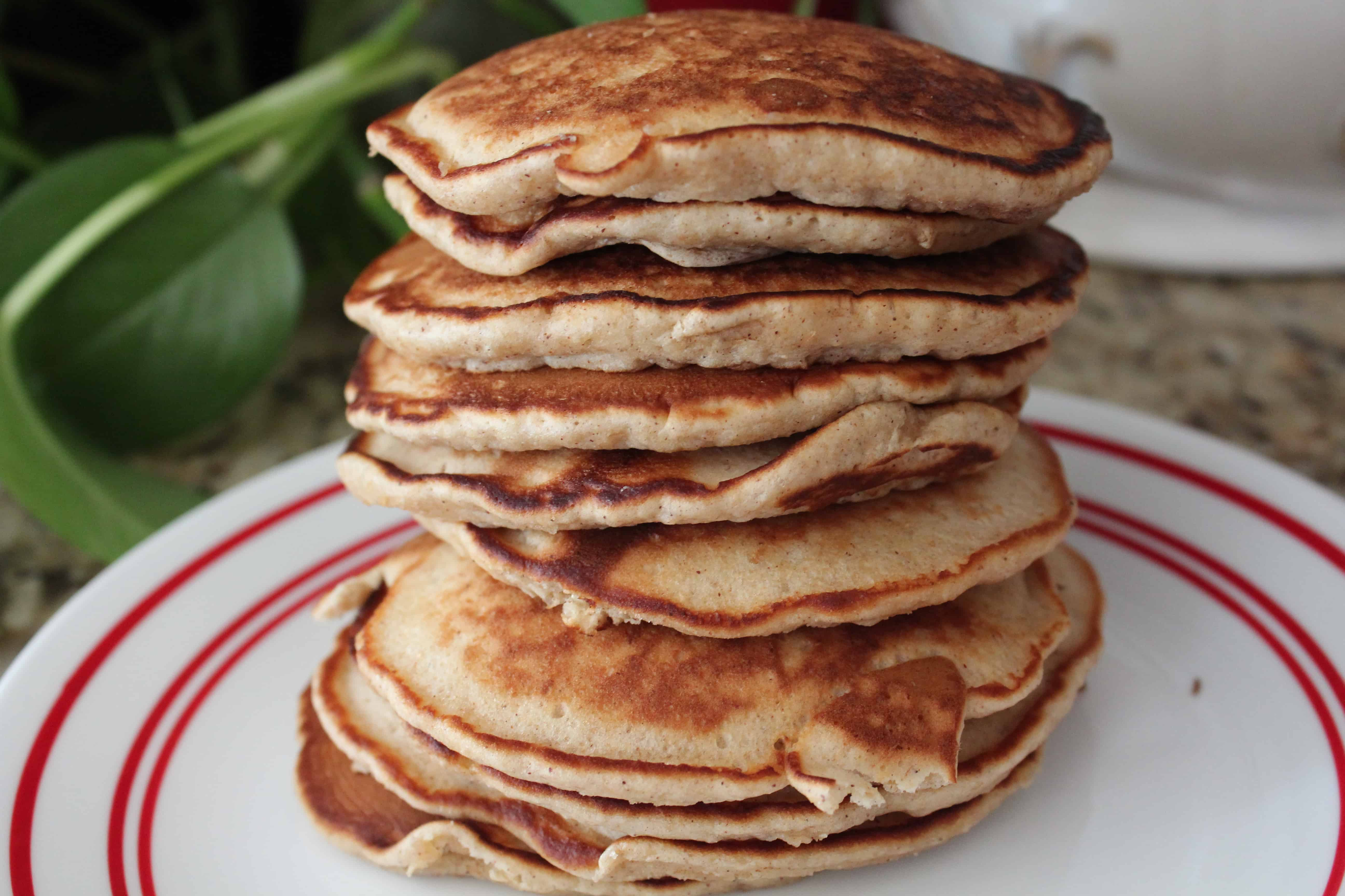 Honey Oat Pancakes for Breakfast
