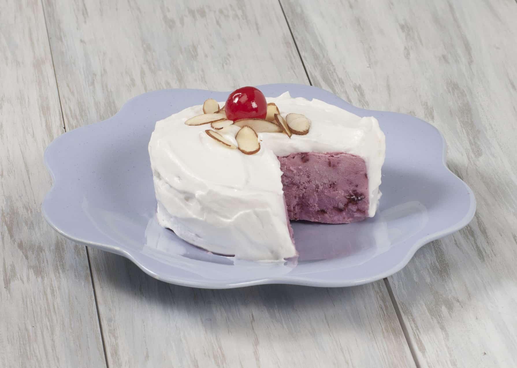 cherry frozen yogurt cake