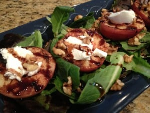 small grilled peach salad