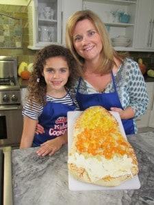 Making Candy Corn Pizza