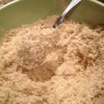 adding to the quinoa