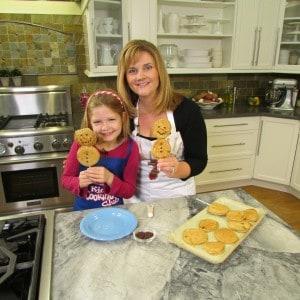 Making Snowman Pancakes