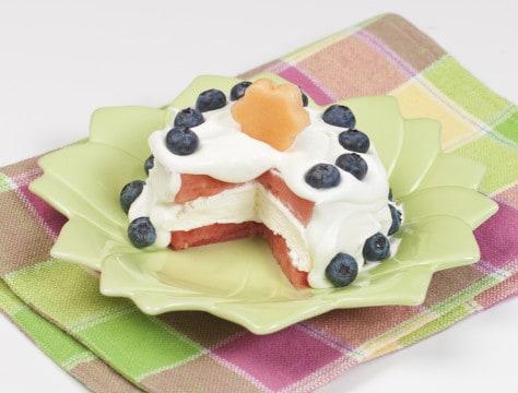 no-bake dessert with fruit fun
