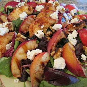 Grilled peach salad