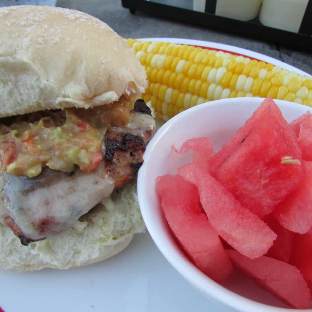 Chipotle Turkey Burgers with Guacamole