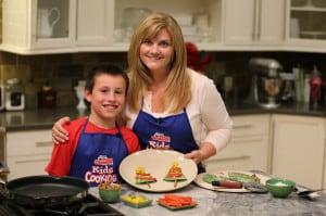 Making quesadillas with Caleb