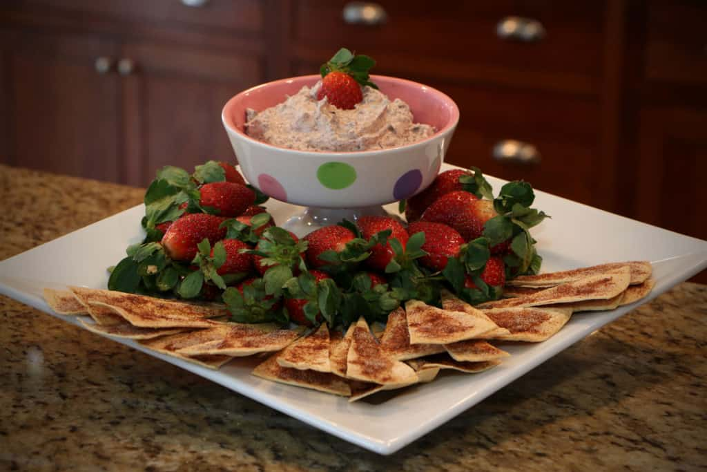 strawberries & chocolate dip