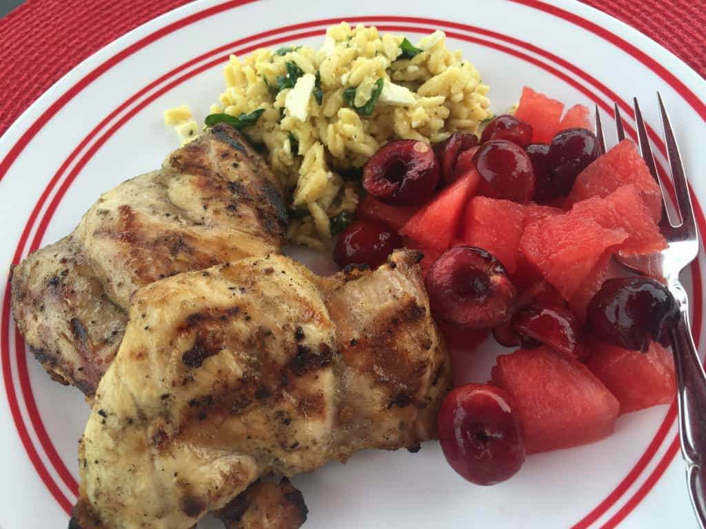 Grilled Chicken & Orzo Salad