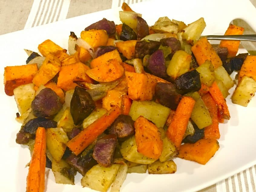 Serving an Easy Thanksgiving with Roasted Potatoes