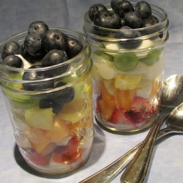 Rainbow Fruit Parfaits