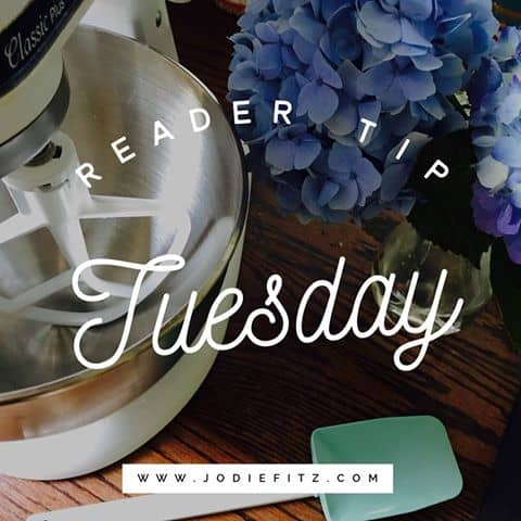 Reader Tip Tuesday with food & craft party