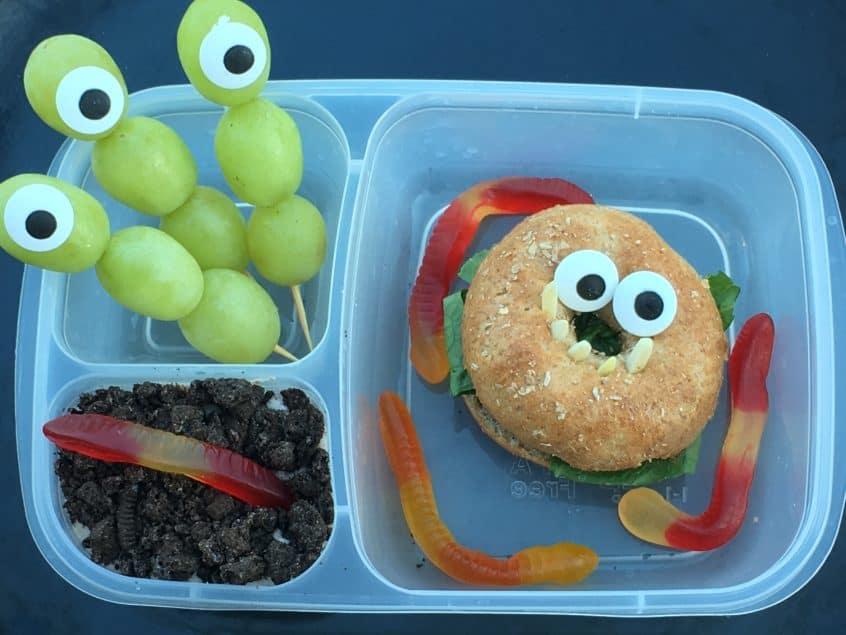Monster Halloween lunch box fun