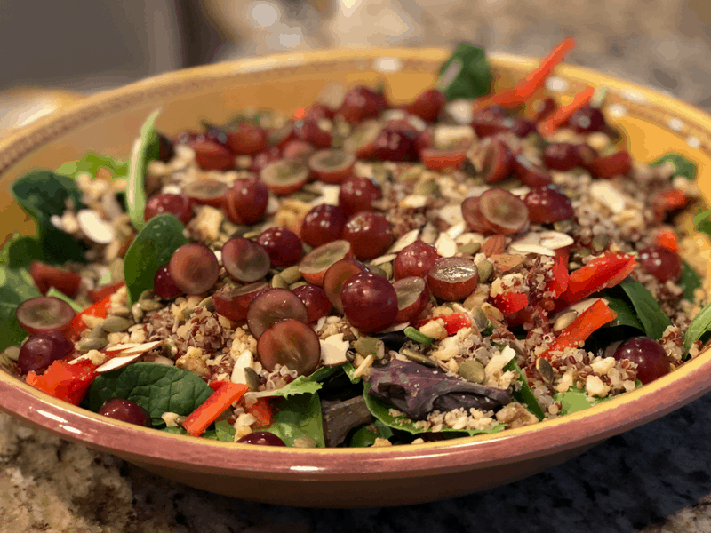 quinoa nut salad