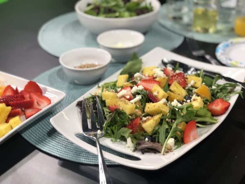 Fresh and Healthy Salad with Fruit in the Mix