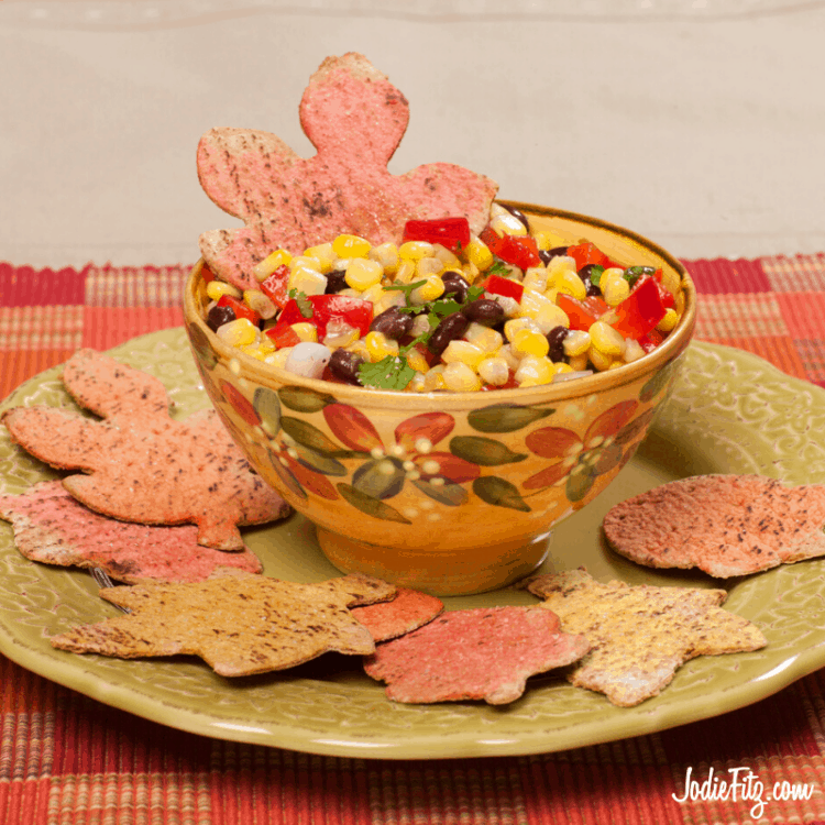 Black Bean and Corn Salsa with Homemade Chips
