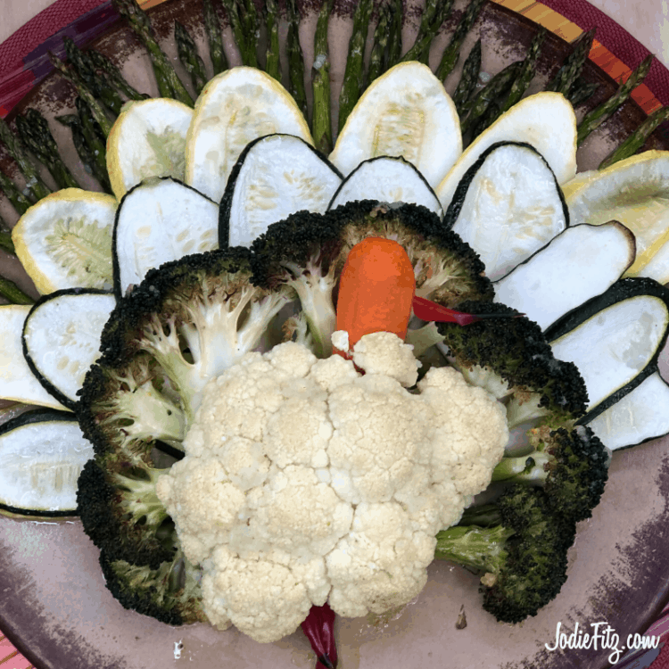 How to Roast Vegetables in the Shape of a Turkey