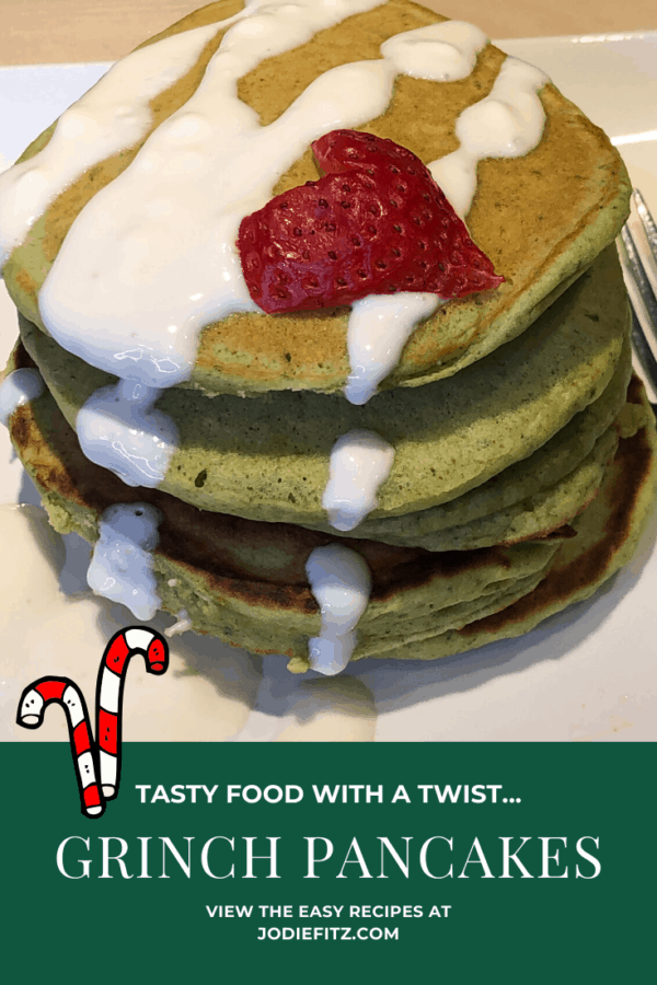 how to make grinch pancakes recipe #grinch #pancakes #holiday #breakfast