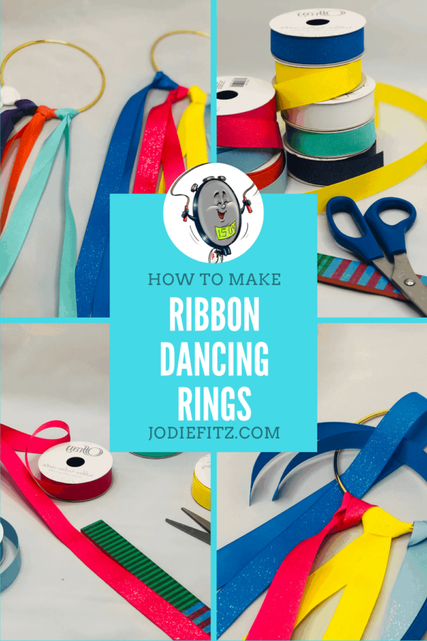 How to Make Ribbon Dancing Rings #ribbondancing #activekids #dance