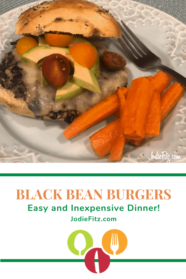 Homemade Black Bean Burger Recipe #homemade #blackbeanburger #moneysavingmeals