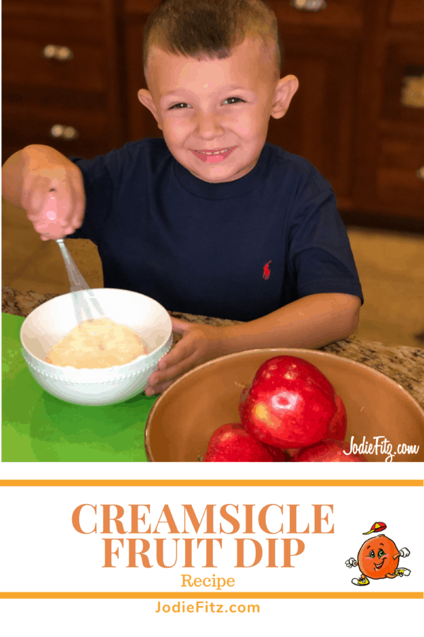 Creamsicle Fruit Dip Recipe #creamsicle #fruitdip #recipe #lunchbox