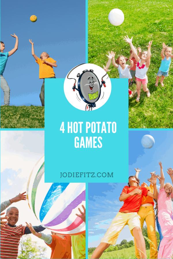 4 hot potato games #kidactivities #activekids #kidfriendly #exercise #games