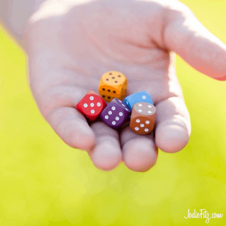 Exercise with Dice is fun for kids