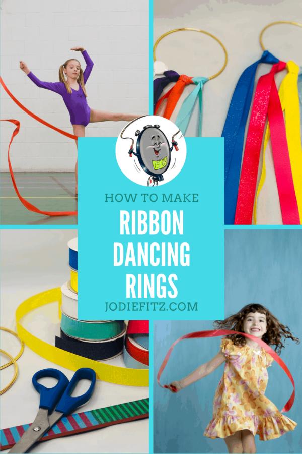 Ribbon Dancing Rings #activekids #dance #ribbondancing #kidcrafts #kidactivities