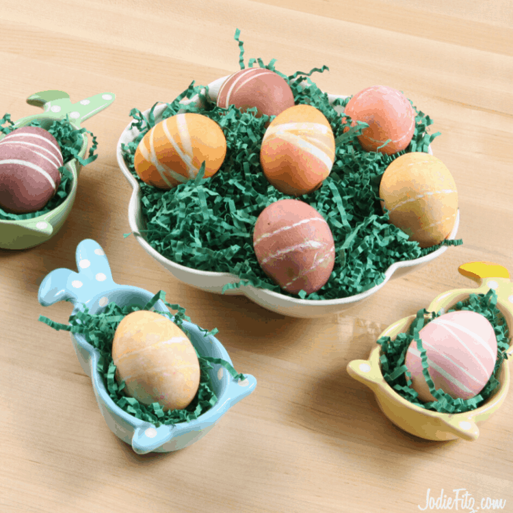 Rubber band Striped Easter Eggs