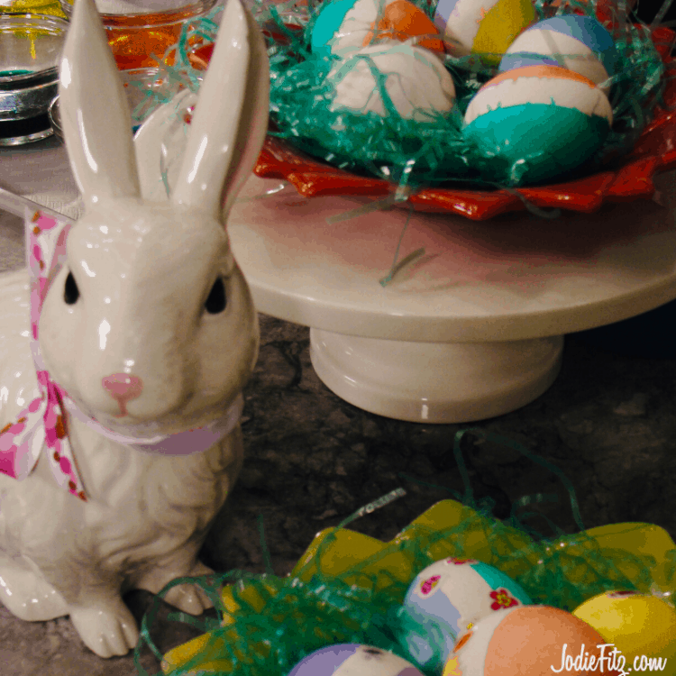 Striping Easter Eggs with Painter's Tape