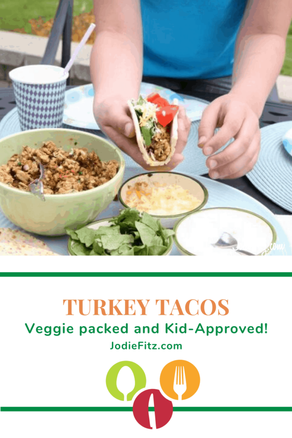 Veggie Packed Turkey Tacos #turkey #tacos #veggies #kidapproved #dinnerideas