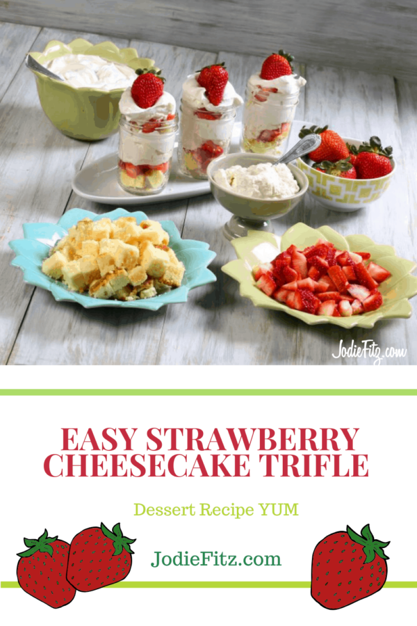 Easy Strawberry Cheesecake Trifle #strawberry #cheesecake #trifle #dessert #recipe