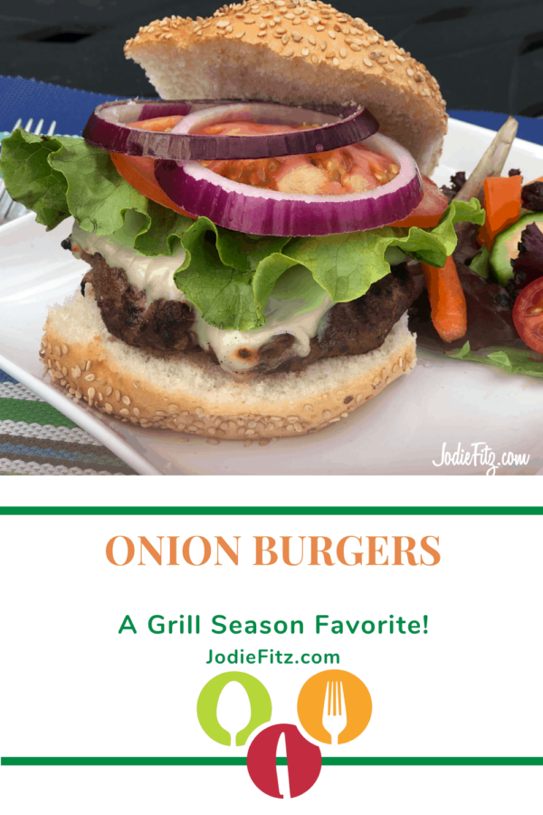 Onion Burgers on the Grill #onion #burgers #grill #season #summer #dinner #ideas
