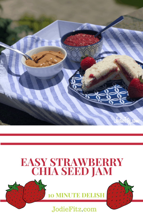 Strawberry Chia Seed Jam #easy #strawberry #chiaseed #jam #recipe