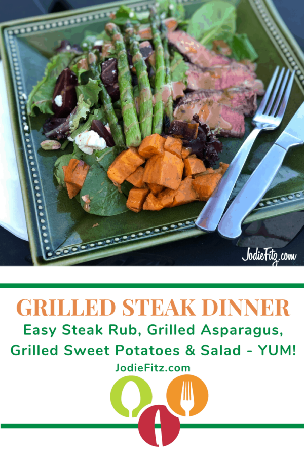 Grilled Steak Dinner #steakrub #recipe #grilled #asparagus #sweetpotatoes